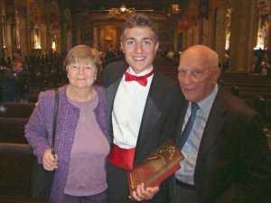 Mimi, myself and my grandpa at my high school graduation in 2009.