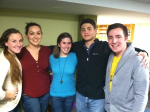 members of my small group (missing Rich)
