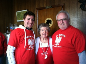 My dad and I with Lottie of R&L Lounge - from a fish fry to Polish cuisine, she does it perfect!