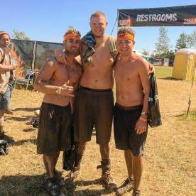 My buds Caleb and Christian who helped me complete the Tough Mudder