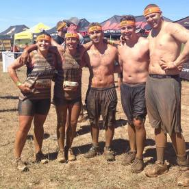 Our new friends Jill and Lysa, along with Caleb and Christian – the Dream Team for the Tough Mudder. I couldn't have done it without these four. Nothing like 11 miles of mud to help make new friends!